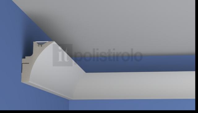 Cornici e diffusori luce led polistirolo gesso profili - Elementi decorativi in polistirolo per interni ...