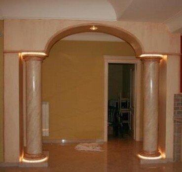 Finti archi e archi bugiardi profili decorativi e for Decorazioni in polistirolo per interni